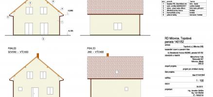 Novostavba rodinného domu, Milovice – Topolová (Nymburk)