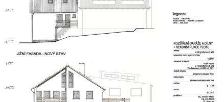 Stavební úpravy a změna užívání stavby pro garáž a autodílnu, Velké Popovice