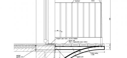 Návrh statického zajištění nástavby bytového domu v Praze na Vinohradech