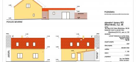 Stavební úpravy rodinného domu, Praha – Březíněves