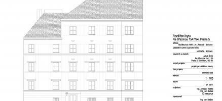 Rekonstrukce a rozšíření podkrovního bytu, Praha – Smíchov
