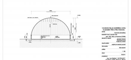 Novostavba ocelové haly ATTL, Pocinovice (Domažlice)