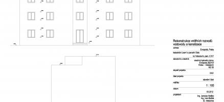 Rekonstrukce rozvodů ZTI vbytovém domě, Praha – Dejvice