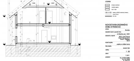 Novostavba rodinného domu lehké dřevěné konstrukce, Strančice (Praha – východ)