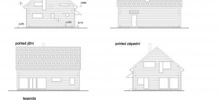 Novostavba rodinného domu lehké dřevěné konstrukce, Unhošť (Praha – západ)