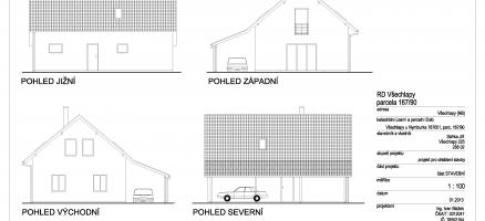 Novostavba rodinného domu, Všechlapy (Nymburk)