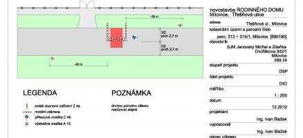 Dopravně informační opatření (DIO), Milovice (Nymburk)