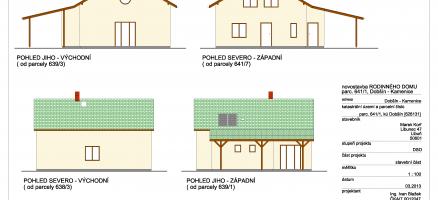 Novostavba rodinného domu, Kamenice – Dobšín (Mladá Boleslav)