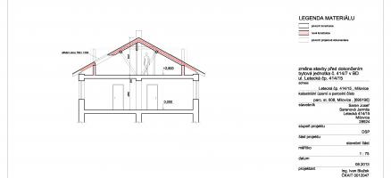 Rozšíření bytu o půdní prostor, Milovice
