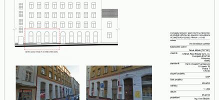 Stavební úpravy a změna užívání stavby na galerii s kavárnou, Praha 1